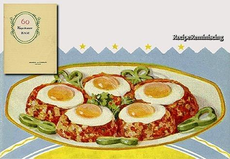 Ham Hash with Poached Eggs / Hakket Skinke med Porsjerte Egg