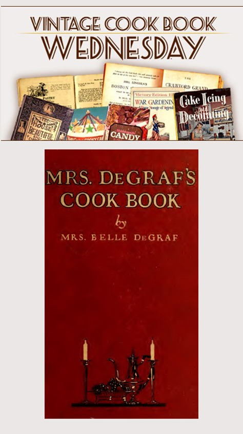 Mrs De Graf's Cook Book from 1922 in PDF