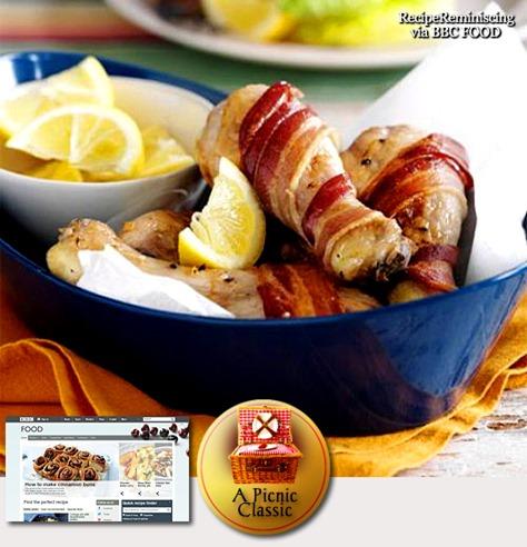 Baconinnpakkede Kyllingklubber