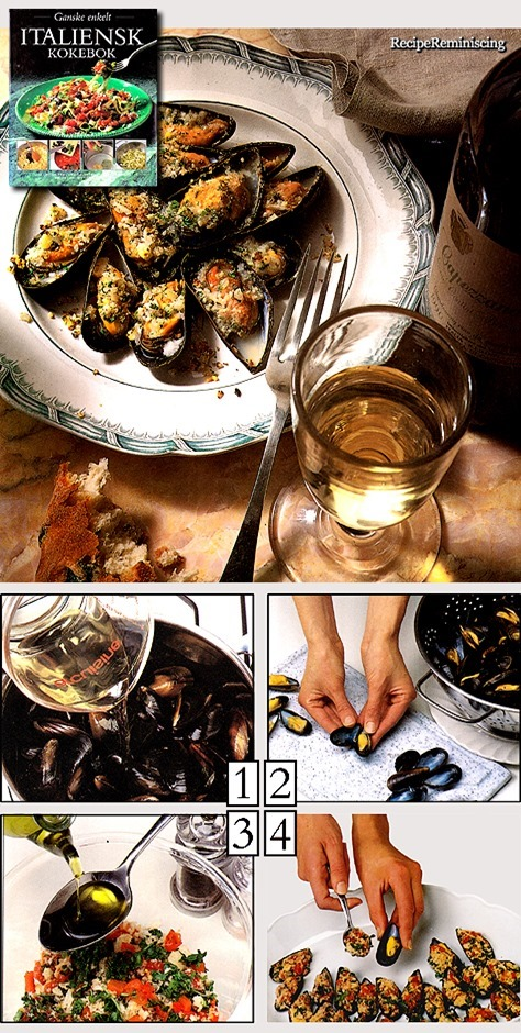 Cozze Gratinate - Gratinated Mussels