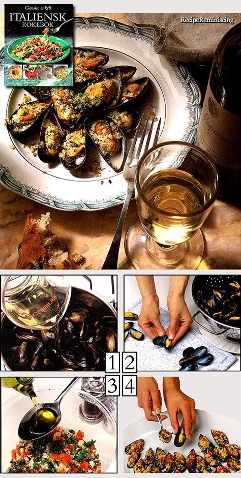 Cozze Gratinate – Gratinated Mussels / Gratinerte Blåskjell