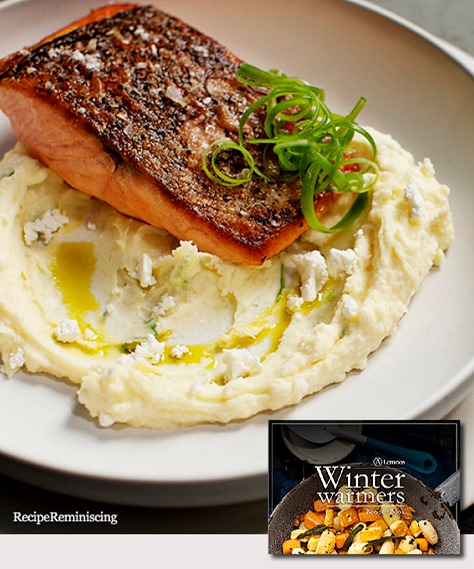 Crisp Skinned Salmon with Fetta & Potato Mash