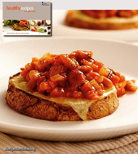Homemade Baked Beans with Grilled Cheese