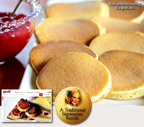 Classic Norwegian Griddle Cakes / Klassiske Lapper