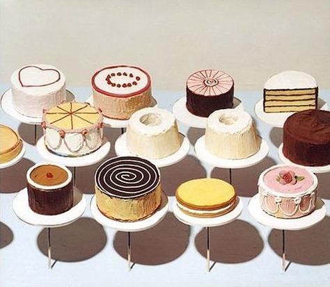 Wayne Thiebaud – Cakes, 1963