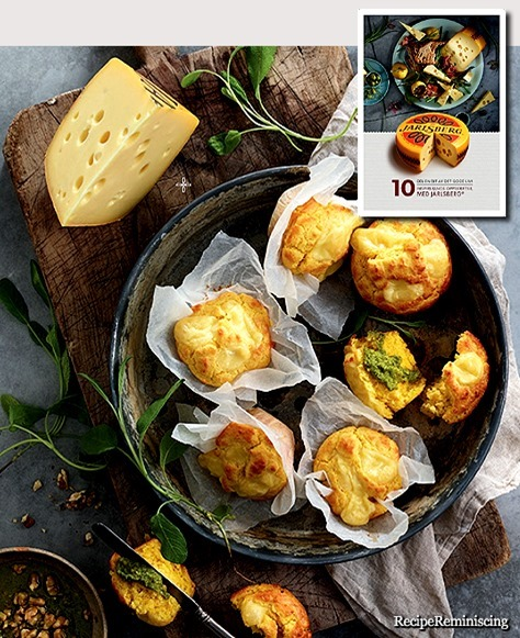 Corn Muffins with Jarlsberg and Nut Pesto