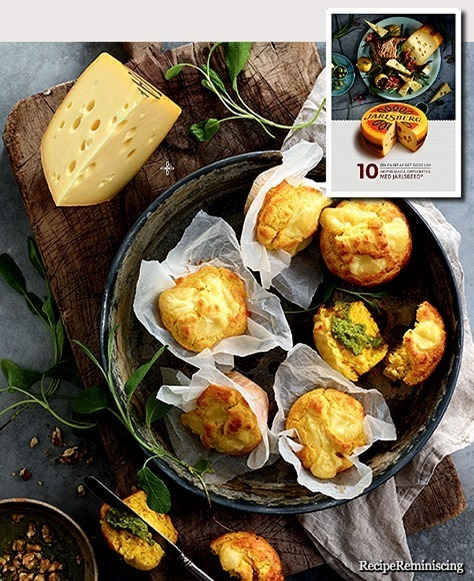 Corn Muffins with Jarlsberg and Nut Pesto / Maismuffins Med Innbakt Jarlsberg og Nøttepesto