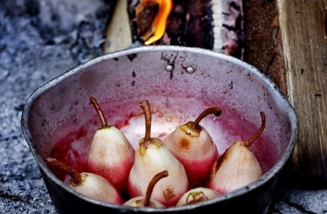 Pears On the Camp Fire