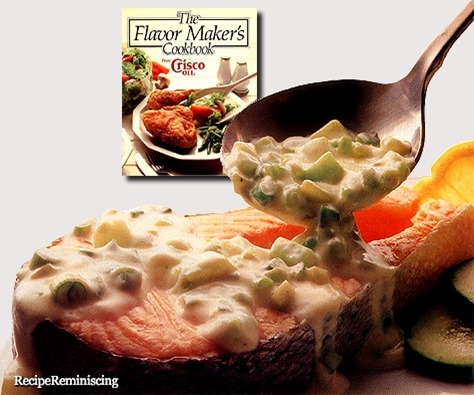 Salmon Steaks with Cucumber Sauce / Lakseskiver med Agurkesaus