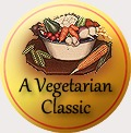 traditional badge vegetarian