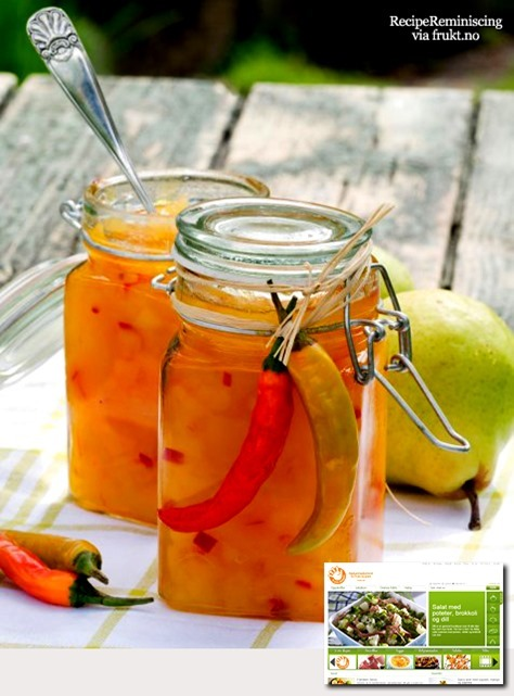Pear Marmalade with Saffron and Chili