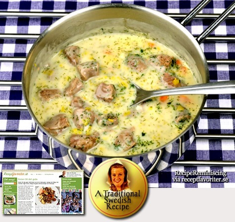 Traditional Swedish Boiled Lamb in Dill Sauce