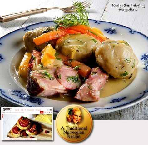 Grated Potato Balls and Smoked Pork Knuckle / Raspeball med Røkt Svineknoke