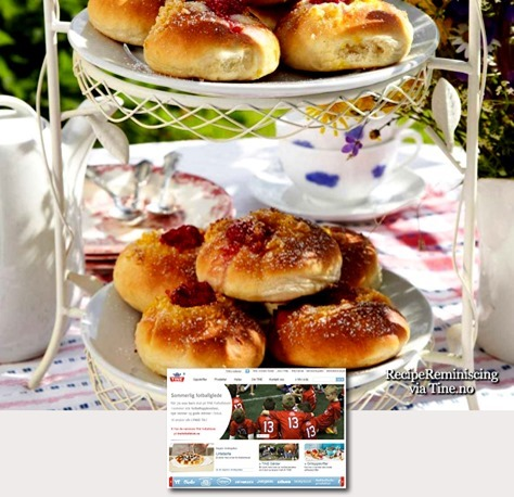 Butter Buns with Vanilla Cream and Berries