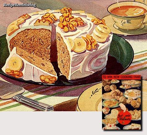 Banana Walnut Cake / Banan- og Valnøttkake