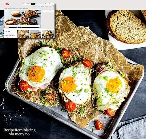 Breakfast Sandwich with Fried Egg / Frokostsmørbrød med Speilegg