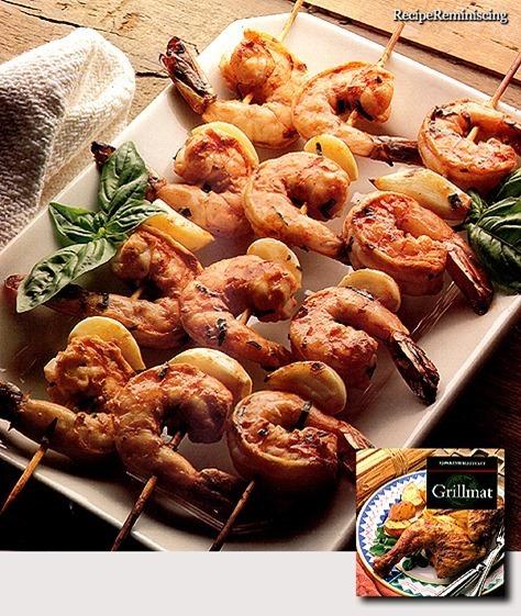 Grilled Scampi with Garlic / Kjempereker med Hvitløk