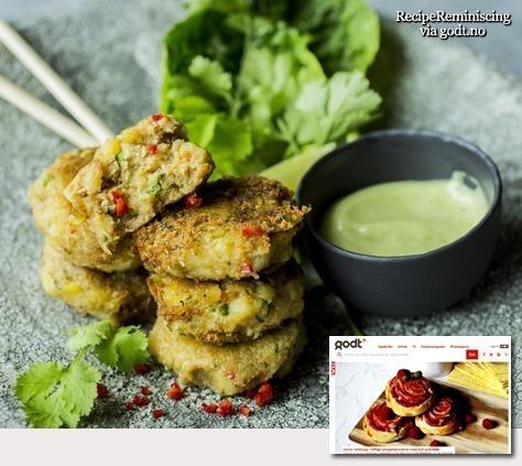Crab Cakes with Wasabi Mayonnaise / Krabbekaker med Wasabimajones