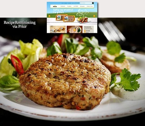Chicken Burger with Coriander Sauce / Kyllingburger med Koriandersaus