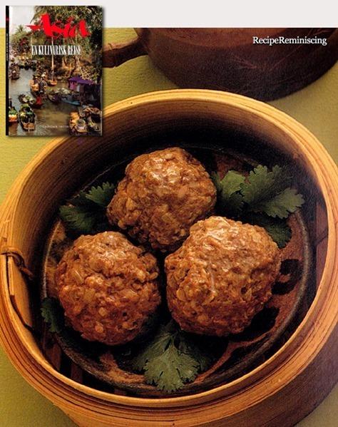 Ngau Yuk Main – Chinese Steamed Meatballs with Coriander Leaves / Kinesiske Dampede Kjøttboller med Korianderblader