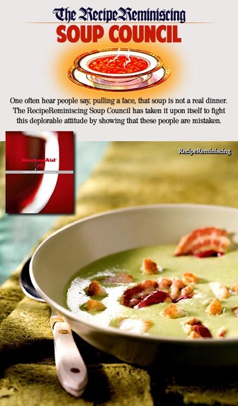 Pea, Marjoram and Mascarpone Soup/ Erter-, Merian- og Mascarponesuppe