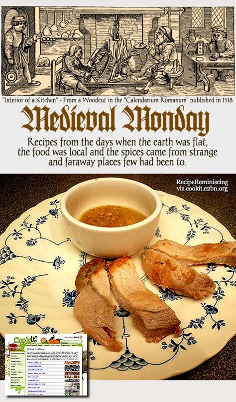 Medieval Monday - Pork with Pine Kernel Sauce