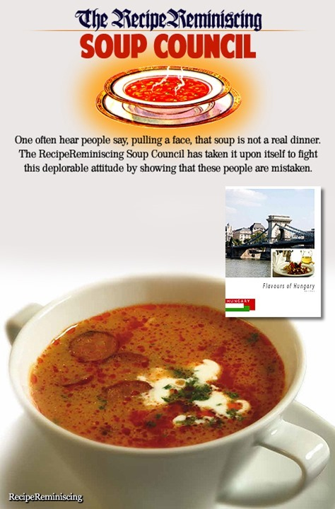 Bean Soup Jókai Style / Bønnesuppe Jókai Style