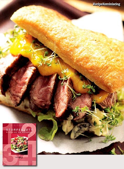 Biffsandwich med Mangosaus