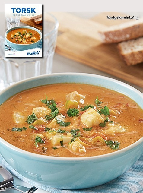 Fish soup with cod and tomatoes fiskesuppe med torsk og for Fish soup cod