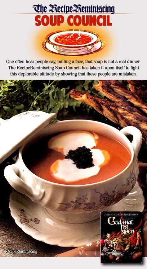 Lobster Soup «Moscovitt» with Black Caviar / Hummersuppe «Moscovitt» med Limfjordkaviar