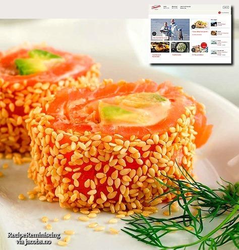 Salmon Rolls with Sesame Seeds / Lakserull med Sesamfrø