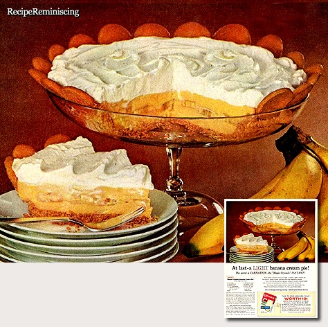 """Magic Crystals"" Banana Cream Pie"