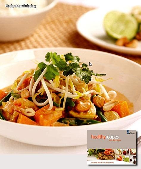 Gul Thaikarri med Kylling og Cashewnøtter
