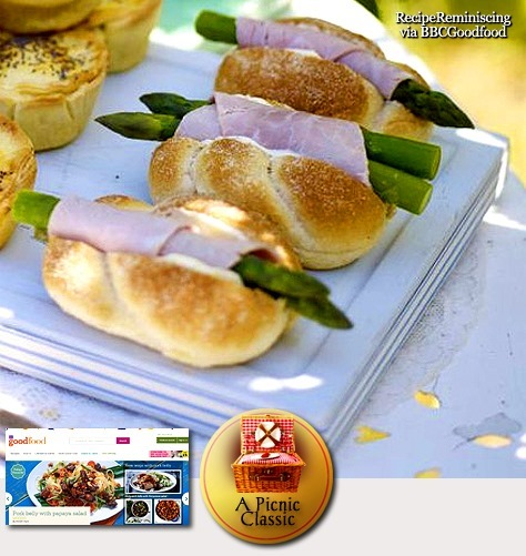 Ham & Asparagus Subs / Skinke og Asparges Fylte Rundstykker