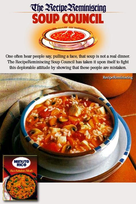 Tomato, Chicken and Mushroom Soup