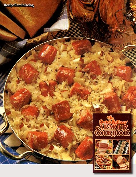Apple and Sauerkraut Sausage Skillet