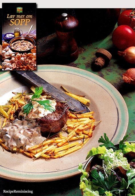 Steak with Mushroom Sauce / Biff med Soppsaus