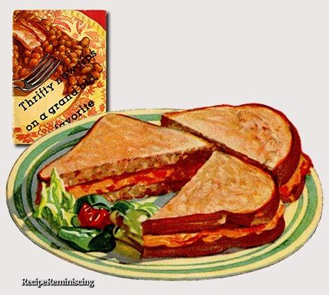 Boston Bean Sandwiches / Doble Smørbrød med Moste Bønner