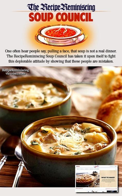 Kremet Pølse og Torttellinisuppe