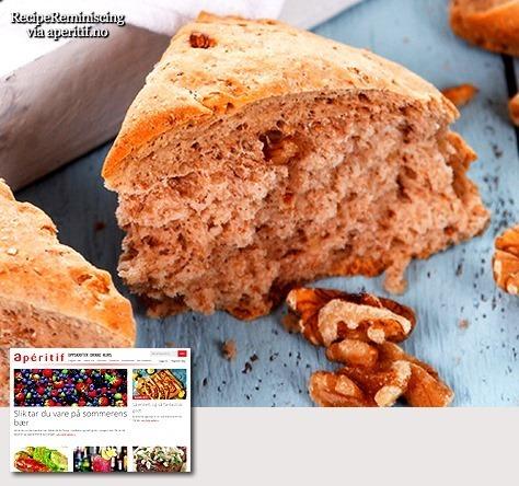 French Walnut Bread / Fransk Valnøttbrød