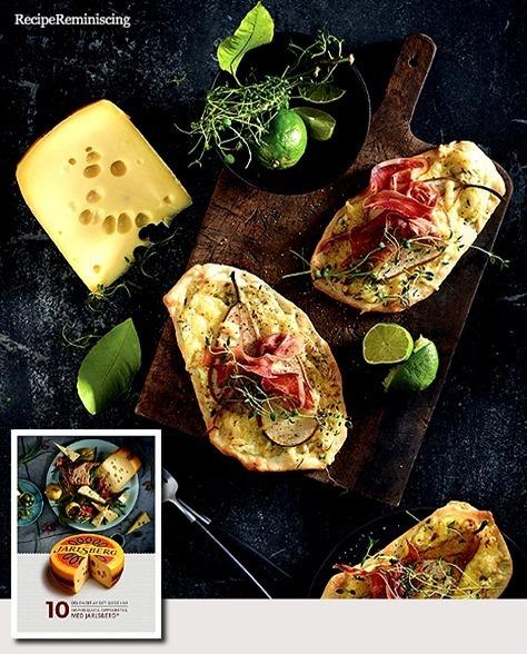 White Mini Pizzas with Jarlsberg Cheese / Hvite Minipizzaer med Jarlsberg