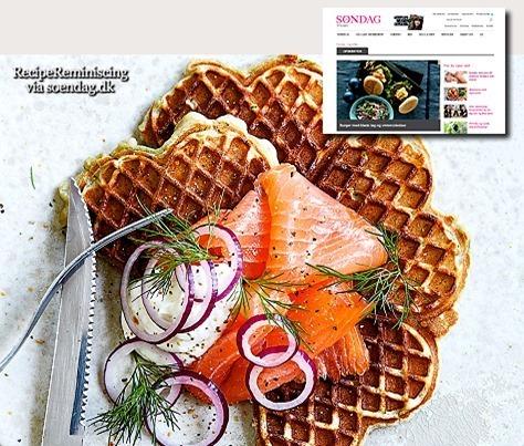 Potato Waffles with Smoked Salmon / Kartoffelvafler med Røget Laks