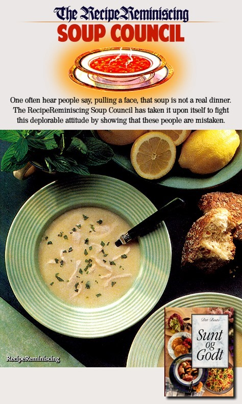 Chicken Soup with a Mint Flavour