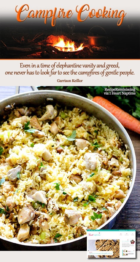 One Pot Creamy Chicken and Rice / Kremaktig Kylling og Ris Tilberedt i en Gryte