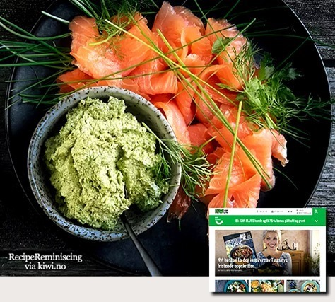 Smoked Salmon with Creamy Herb Pesto / Røkt Laks med Kremet Urtepesto