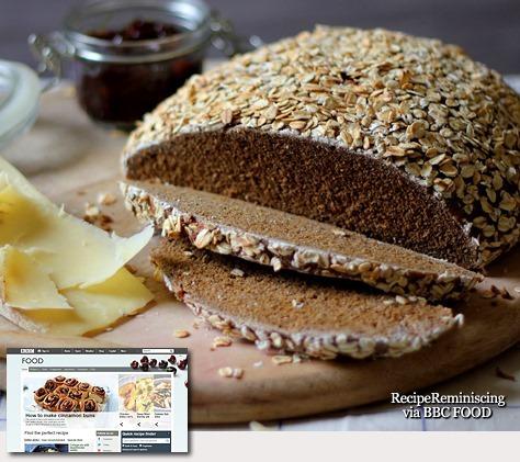 Rye, Ale and Oat Bread / Rug-, Øl- og Havrebrød