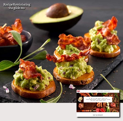 Sweet Potato with Avocado Cream and Crispy Bacon