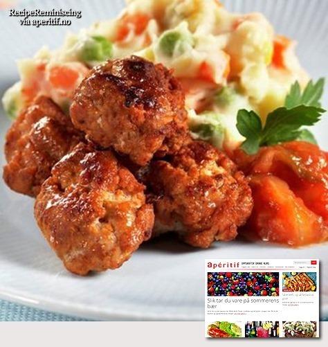 Taco Meatballs with Mashed Veggies / Tacokjøttboller med grønnsaksmos
