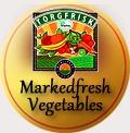 traditional badge markedfresh vegetables