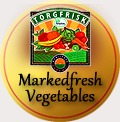 traditional badge markedfresh vegetables